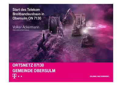 2018, Start des Telekom Breitbandausbaus in Obersulm ON 7130
